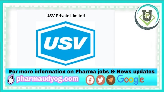 USV Pharma | Openings for PPIC department at Daman