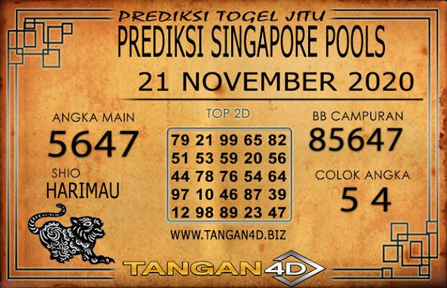 PREDIKSI TOGEL SINGAPORE TANGAN4D 21 NOVEMBER 2020