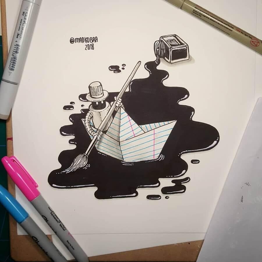 01-Ink-on-a-paper-boat-Pedro-Josue-Carvajal-www-designstack-co
