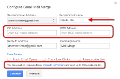 Mail Merge gmail