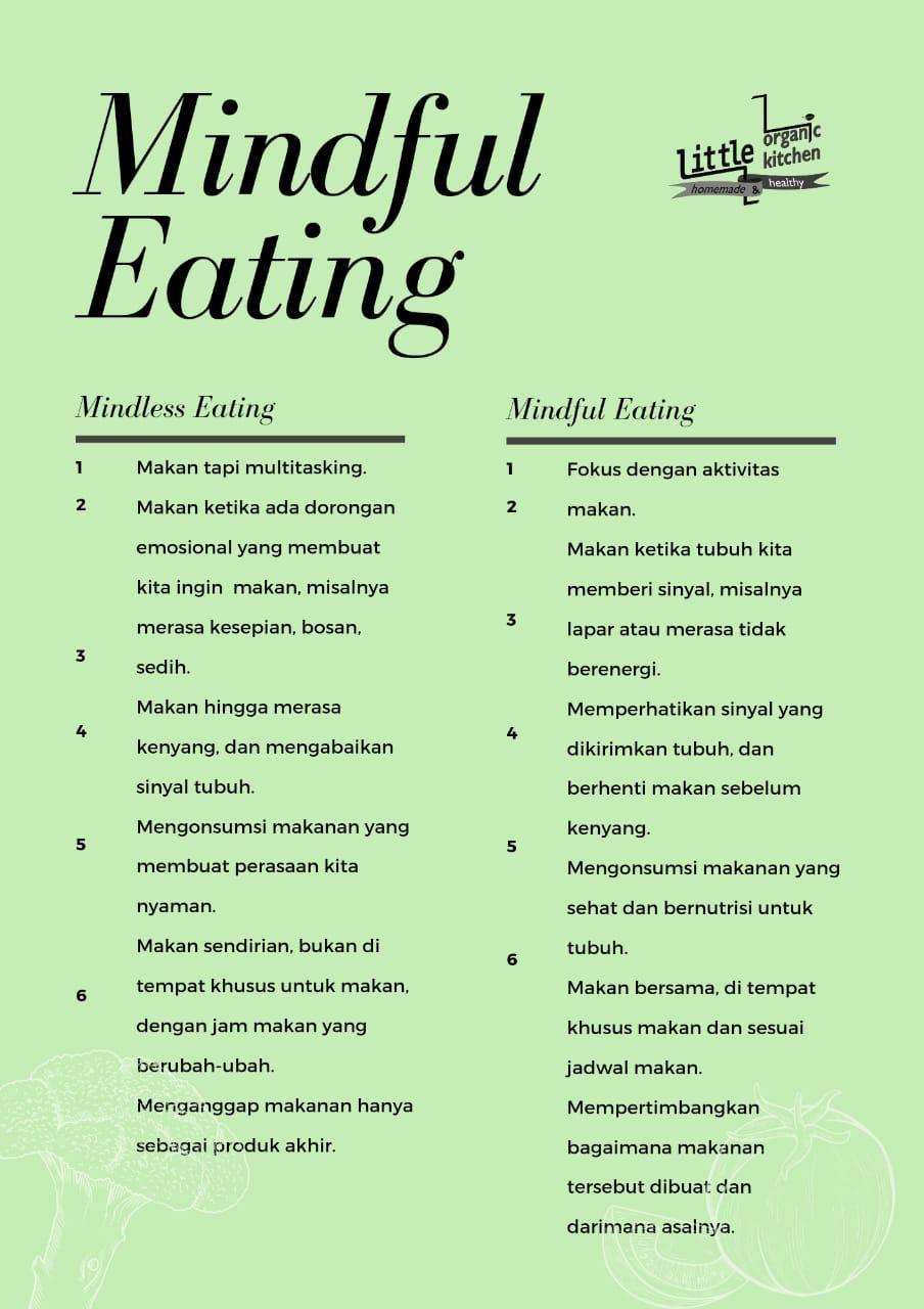 Perbedaan Mindful eating dengan mindless eating