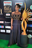Sanjjanaa Galrani aka Archana Galrani in Maroon Gown beautiful Pics at IIFA Utsavam Awards 2017 23.JPG
