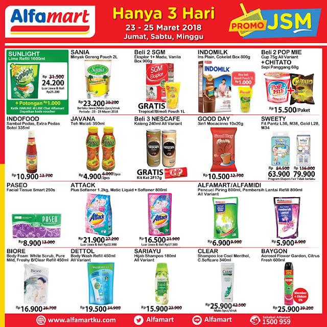 Katalog Harga Promo ALFAMART JSM Akhir Pekan 23 - 25 Maret 2018