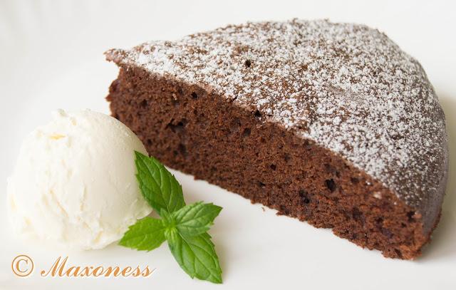 Шоколадный торт с оливковым маслом. Итальянская кухня