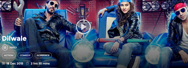 Dilwale 2015 Full Hindi Movie Download free in 720p avi mp4 HD 3gp hq