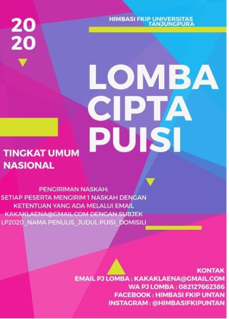 Lomba Cipta Puisi Nasional 2020 di Universitas Tanjungpura