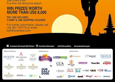 Sunset Run 2016 Seminyak Bali yayasan senyum bali suryani institute for mental health cahrity run lari amal
