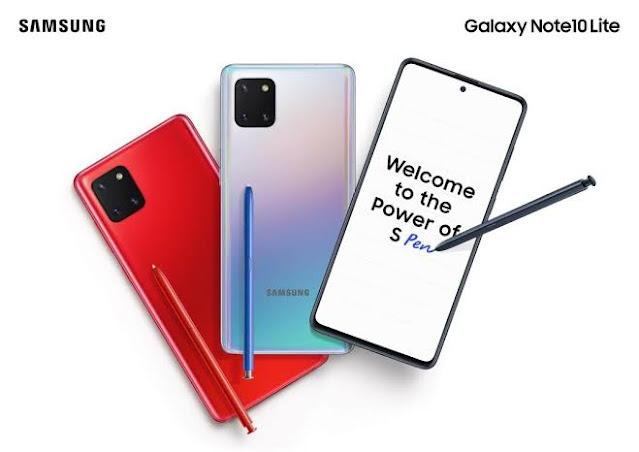 spesifikasi dan harga Samsung Galaxy Note 10 Lite