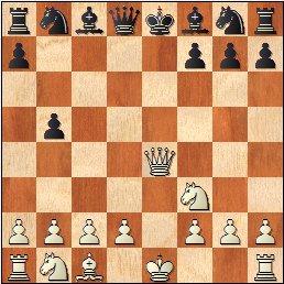 Partida de ajedrez Esteve Puig i Puig - José María Baquero Vidal (1905), posición después de 7.Dxe4+