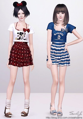 e3e3e49b0 Vestido Feminino para adolescente- Sasha. Postado por Tudo para The Sims 3  ...