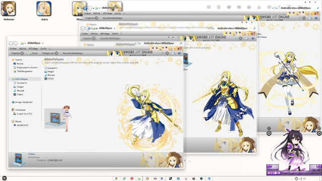 Windows 7 Theme Sword Art Online: Alicization by Andrea_37