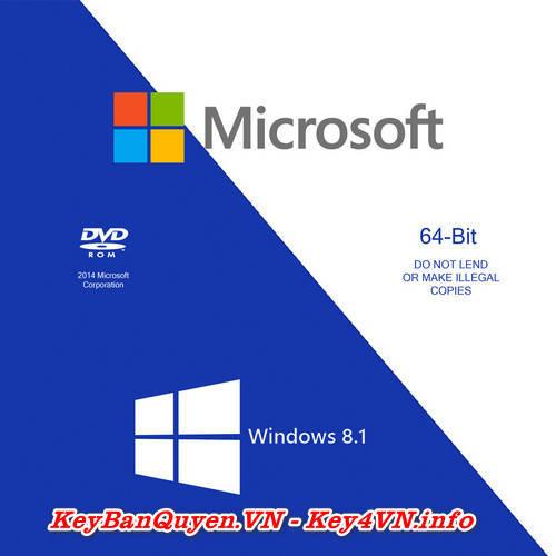 Mua bán key bản quyền Windows 8.1 Full 32 và 64 Bit .