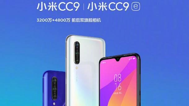 Spesifikasi dan Harga Xiaomi Mi CC9 dan Xiaomi Mi CC9e