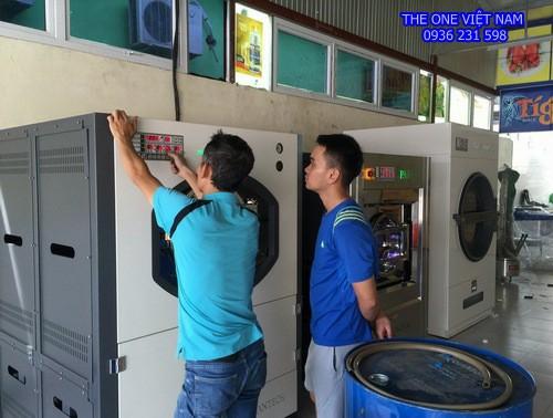 Máy giặt sấy công nghiệp cho tiệm giặt Thái Bình