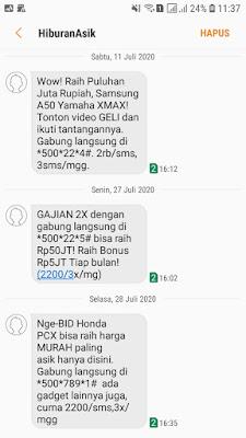 Layanan sms berlangganan XL