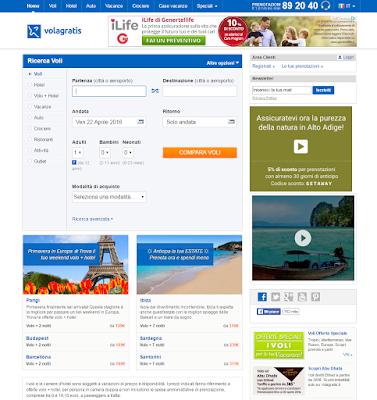 BRAVOFLY  VOLAGRATIS - leader in Europa per la ricerca e acquisto dei voli low cost e non solo!