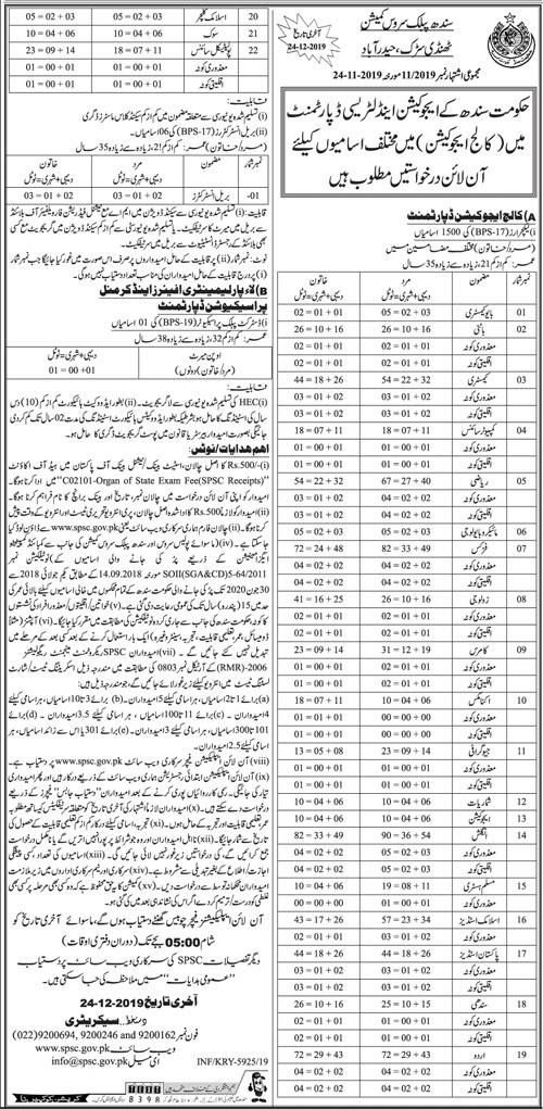 School Education & Literacy Department Jobs For Teachers Last Date 24 Dec 2019