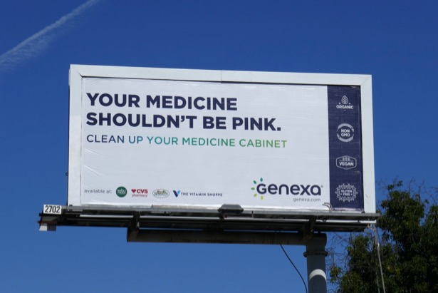 Your medicine shouldnt be pink Genexa billboard