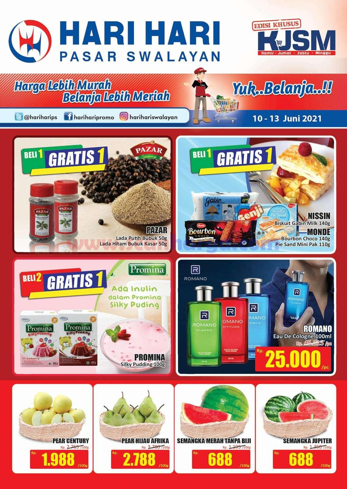 Katalog Promo JSM Hari Hari Swalayan Weekend 10 - 13 Juni 2021 1