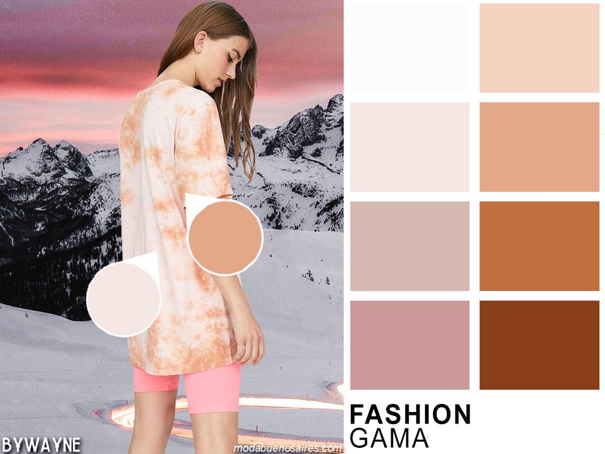 Gama de pasteles, colores de moda primavera verano 2020.
