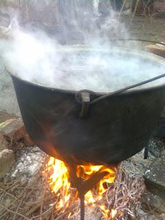 ceaun cu apa incalzita la 25 de grade celsius
