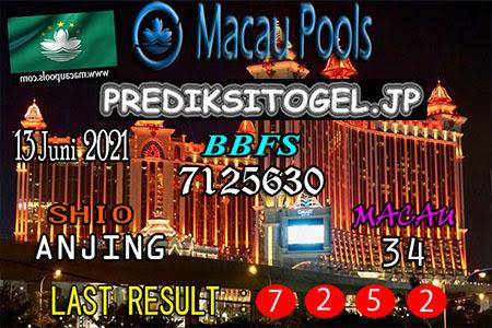 Prediksi Wangsit Togel Macau Minggu 13 Juni 2021