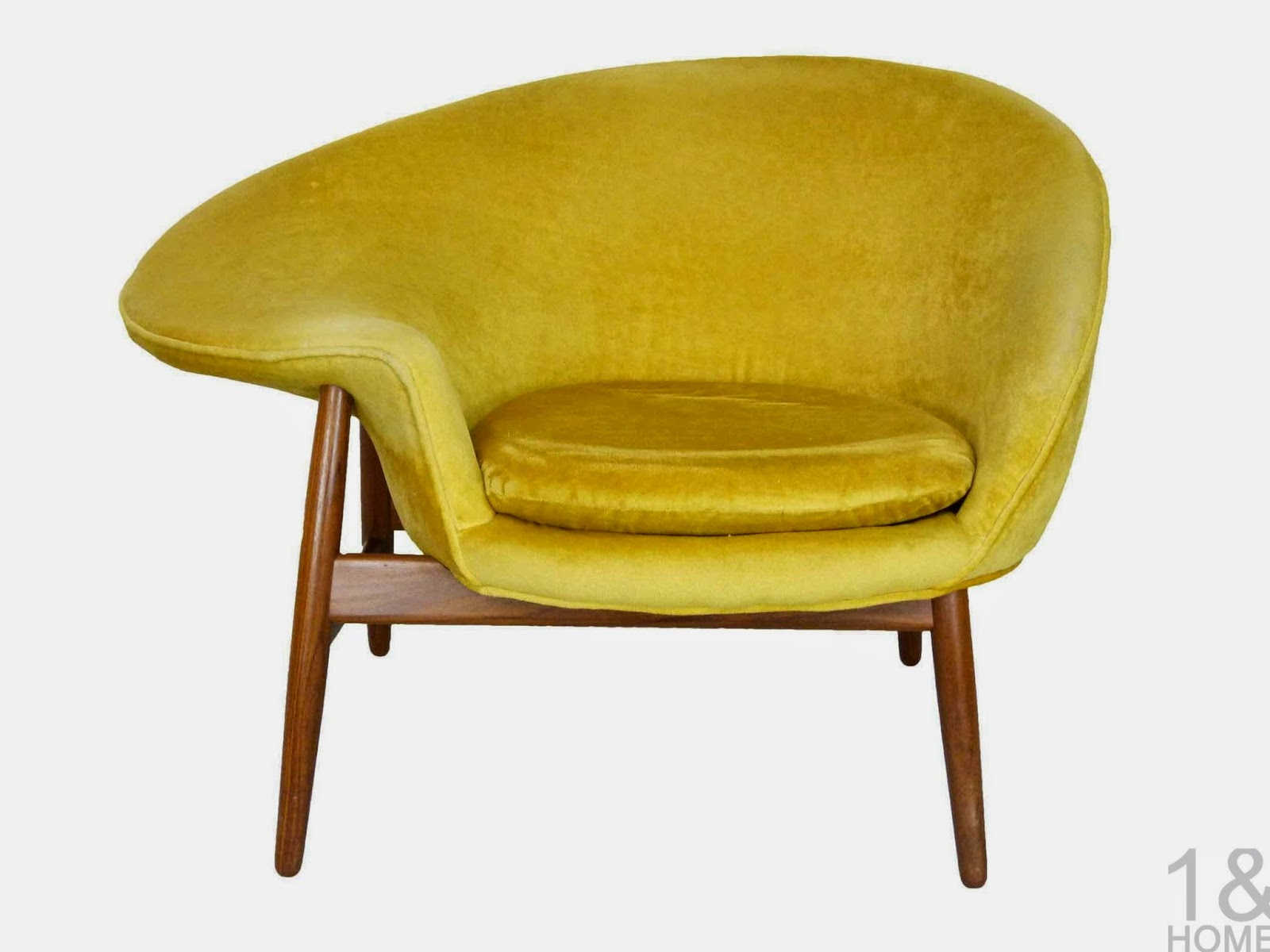 Fried Egg Chair Yellow Hans Olsen Bramin Denmark Danish Modern
