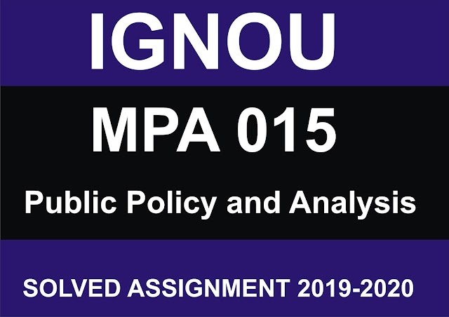 MPA 015  Solved Assignment