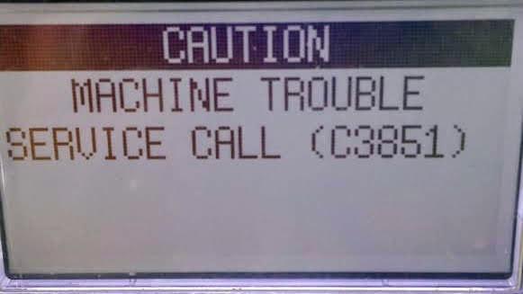 reset trouble service call c345 on Konica Minolta bizhub 2151