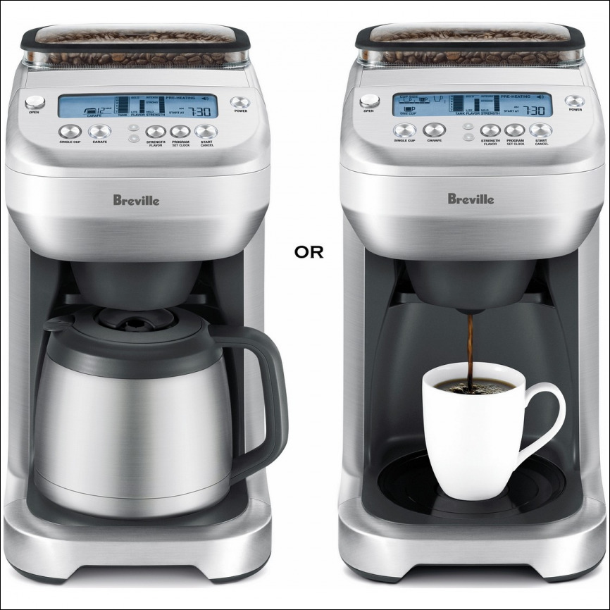Breville Single Cup Coffee Maker With Grinder
