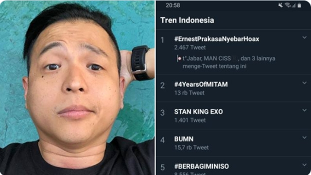Twit Anies Pangkas Dana Rehab Sekolah demi Formula E, #ErnestPrakasaNyebarHoax Trending