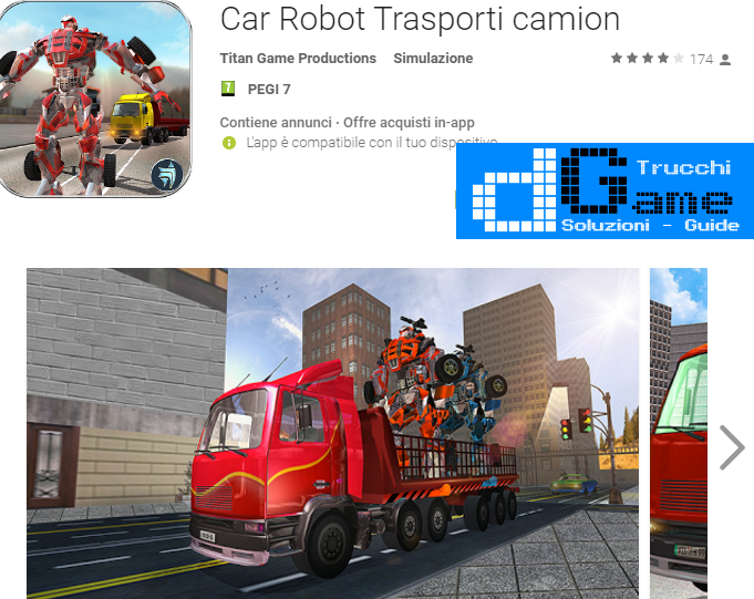 Trucchi Car Robot Transport Truck Mod Apk Android v1.1