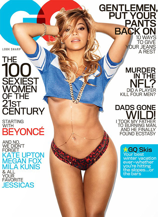Beyoncé shows underboob and pokes out her jelly for GQ | randomjpop.blogspot.co.uk