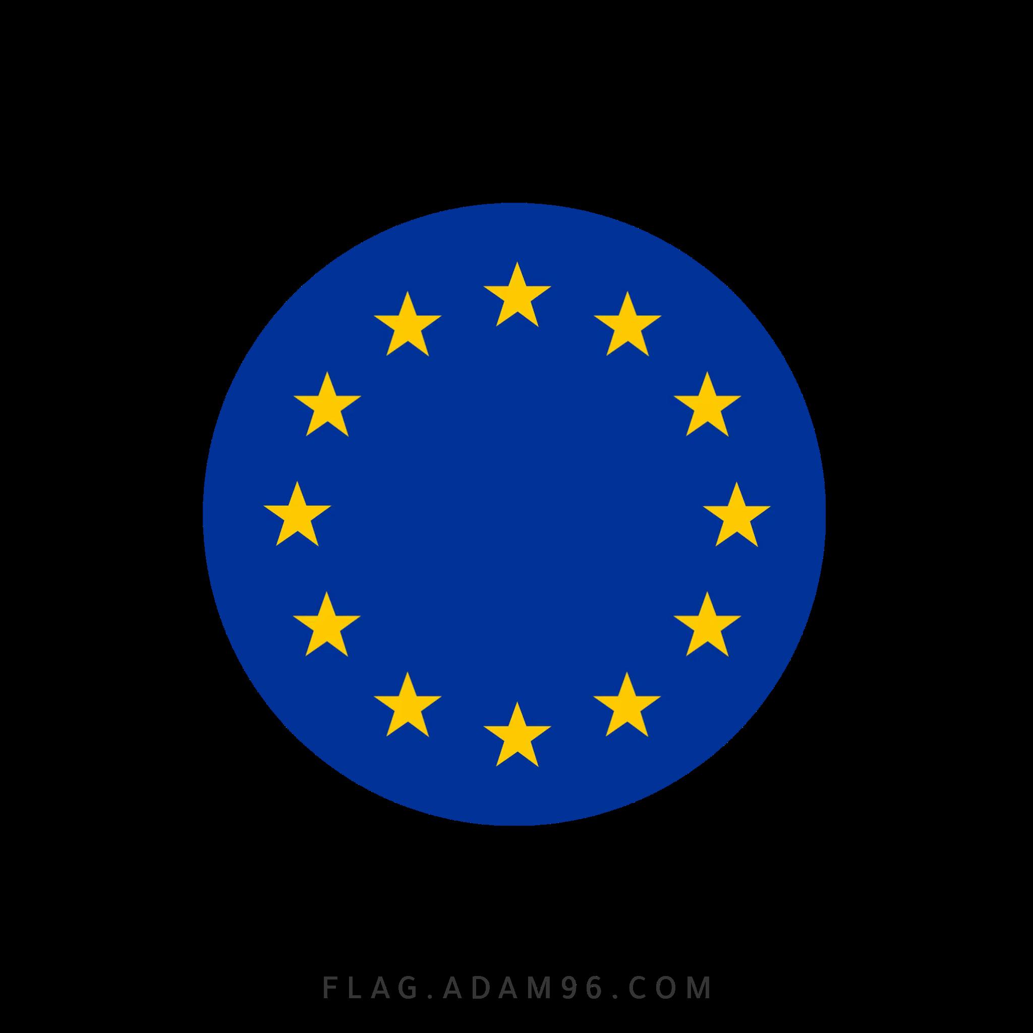 تحميل علم الاتحاد الاوروبي بشكل دائري للتصميم خلفيات علم الاتحاد الاوروبي للتصميم بصيغة PNG