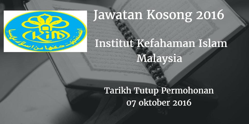 Jawatan Kosong IKIM 07 Oktober 2016