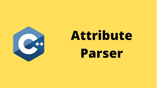 HackerRank Attribute Parser solution in c++ programming