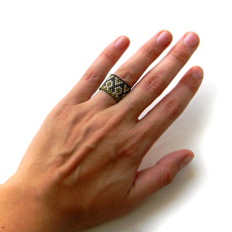 Кольца из бисера (Beaded rings) - peyote ring