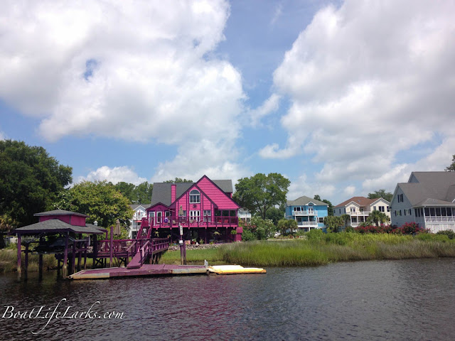 Houses along the ICW, South Carolina