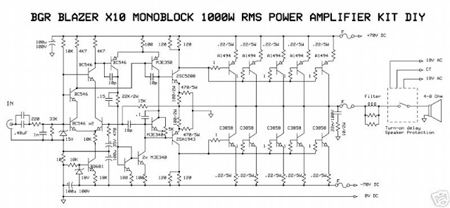 1000watt audio power amplifier blazer circuit the circuit. Black Bedroom Furniture Sets. Home Design Ideas