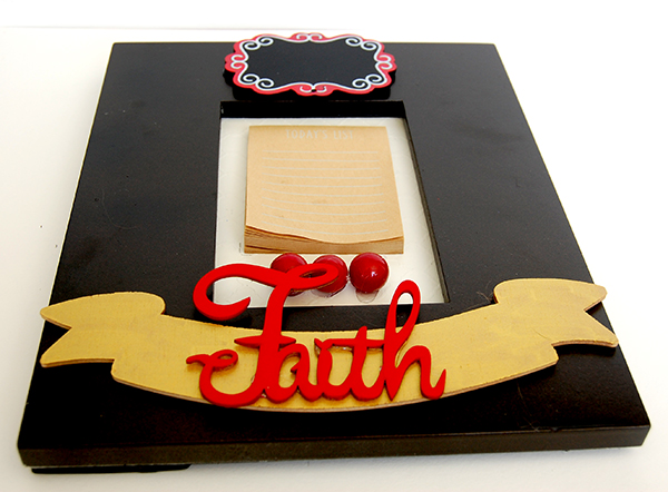 Upclose photo of faith picture frame