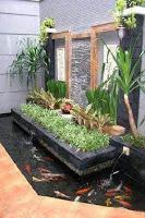 contoh desain taman kolam seni