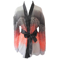 Alfacart Ruby Lingerie Kimono Sexy Gradient Pattern Multicolor ANDHIMIND