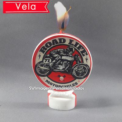 Dica para festa MotocicletaHarley-davidson personalizados vela de aniversário