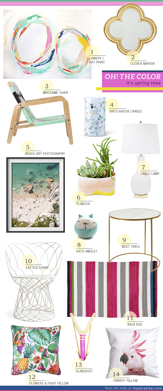 Shopping happy spring colors for the home | My Paradissi