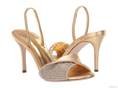 Zapatos Dorados Altos