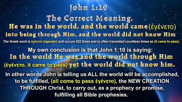 John 1:10 The Correct Meaning.