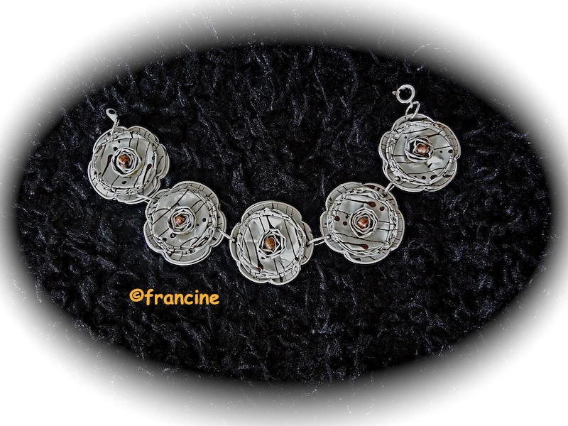 """Assez FRANCINE BRICOLE : Bracelets """"capsules nespresso"""" à 5 fleurs BR51"""