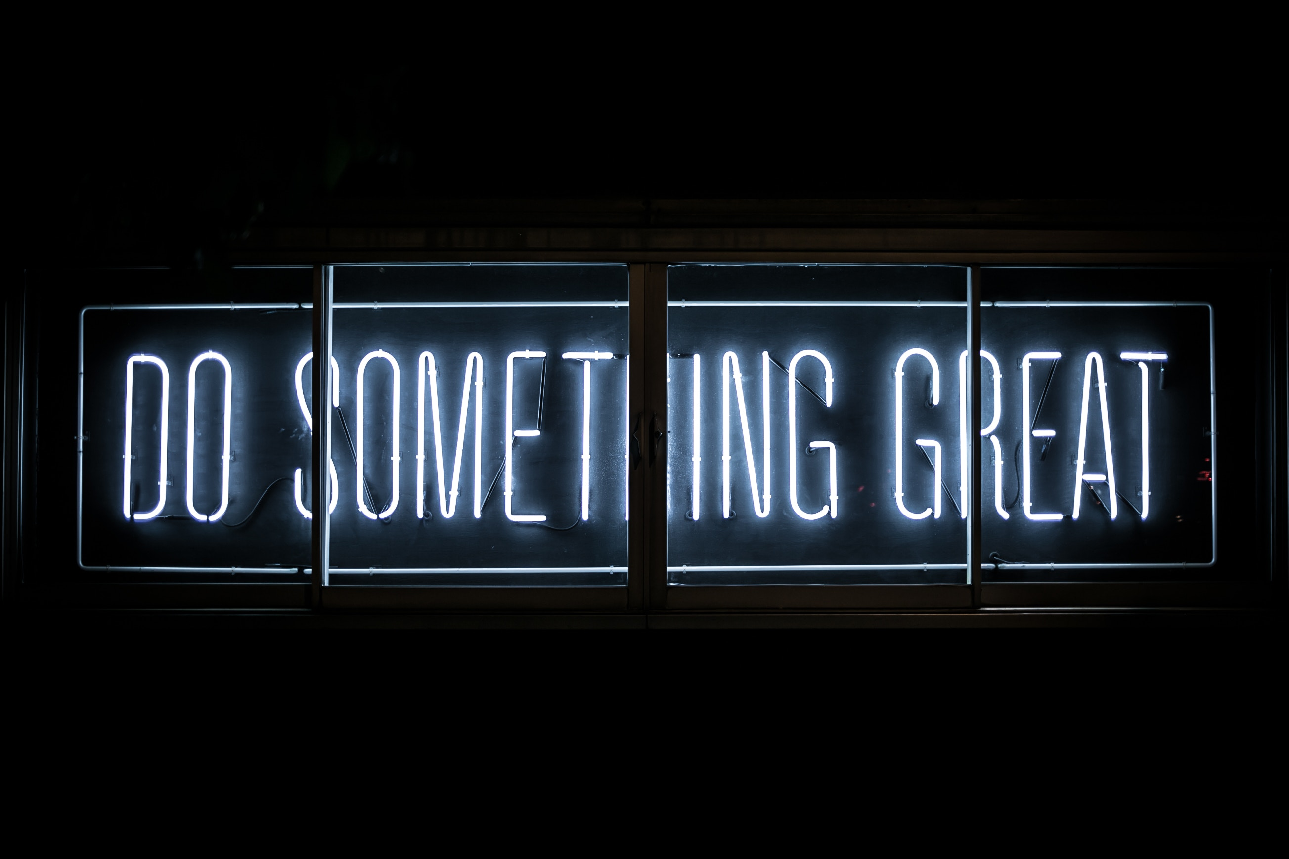Do Something Great, Neon Sign, Inspirational Quotes, HD, Typography