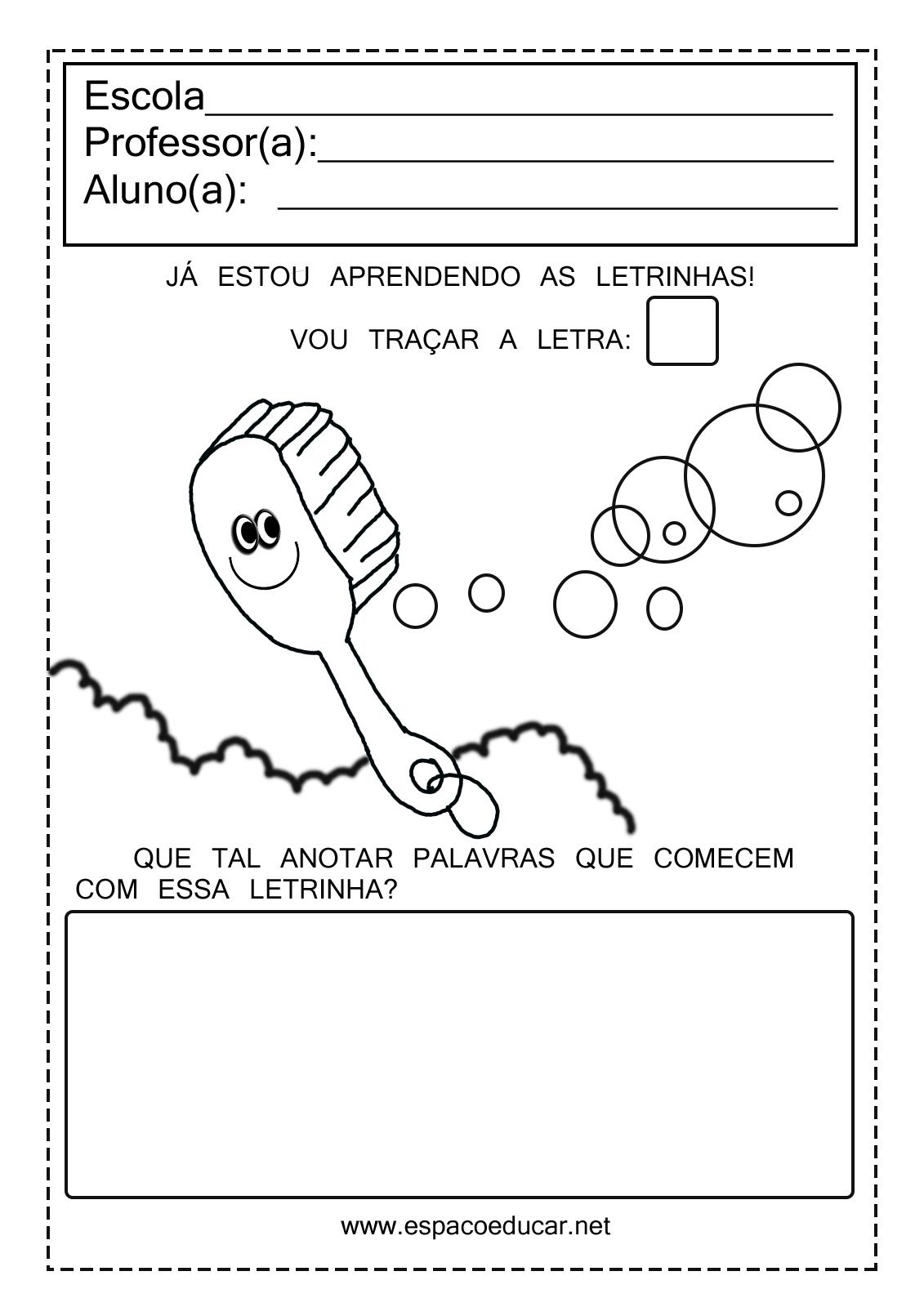 Extremamente ESPAÇO EDUCAR: Atividades com vogais para imprimir! SO52