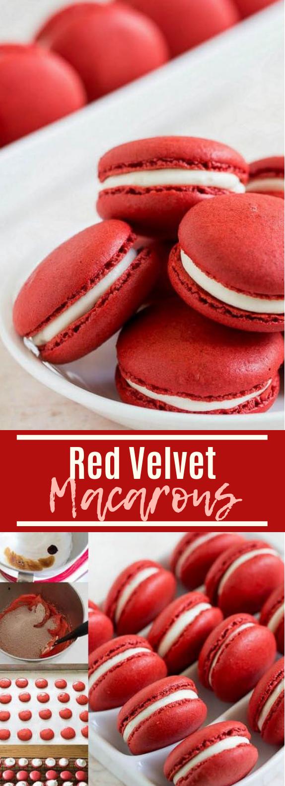 Red Velvet Macarons #cookies #desserts
